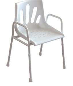 ALUMINIUM SHOWER CHAIR 136KG CAPACITY
