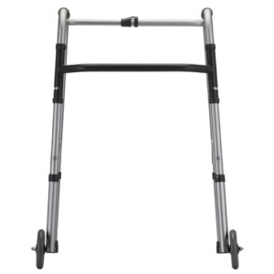FOLDING WALKING FRAME 5″ FRONT WHEEL