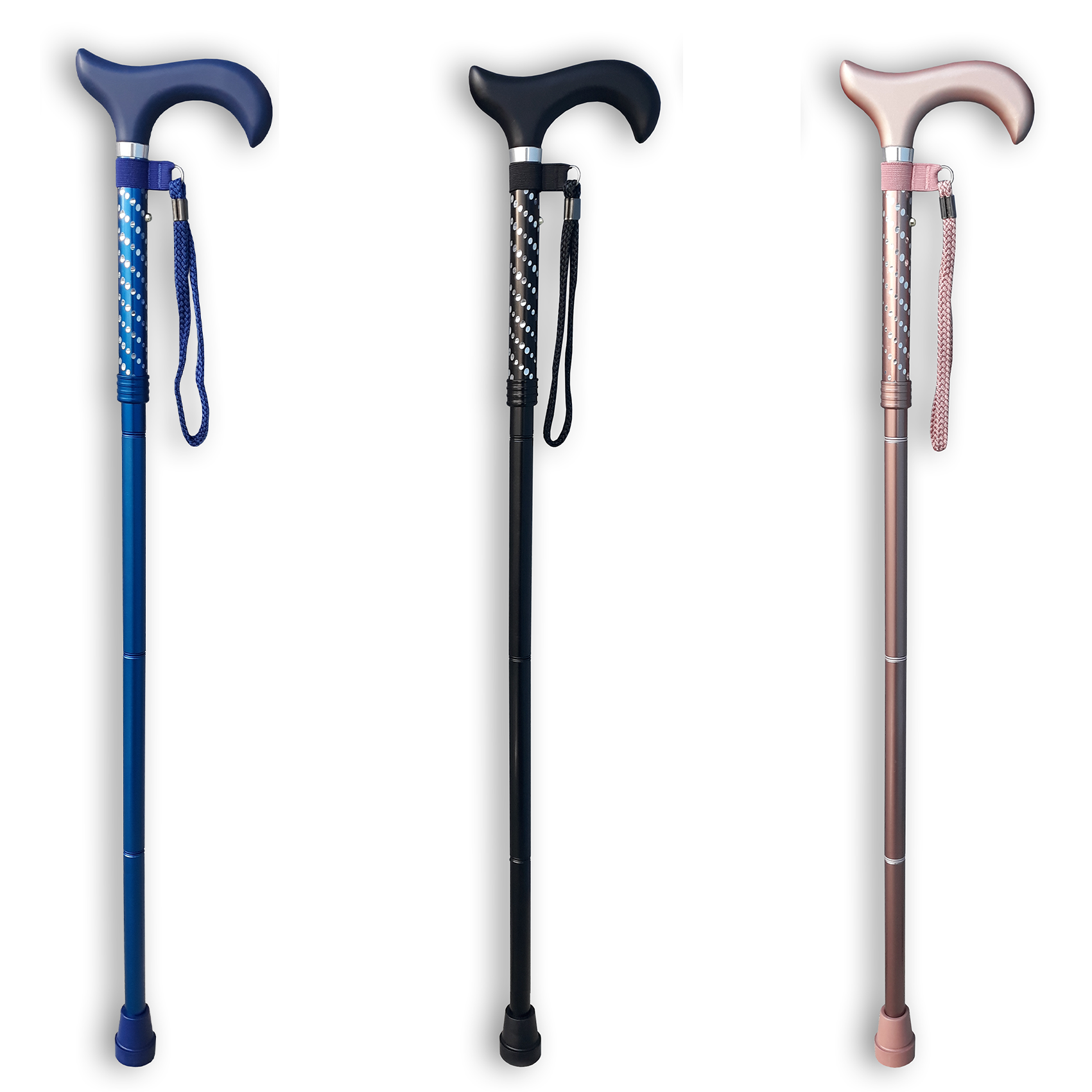 RGWS FOLDING CANE ASSORTED ENGRAVED WITH SPARKLE