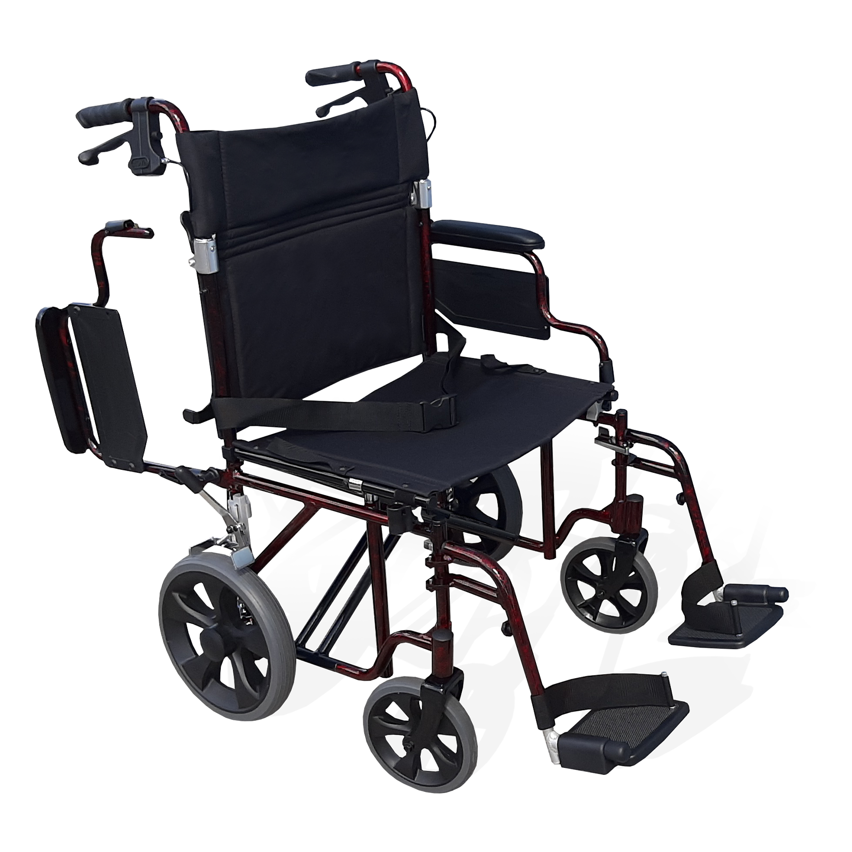 TRANSPORT CHAIR DELUXE 22″ RED