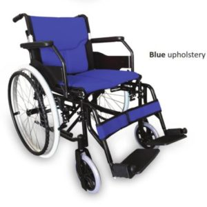 RG310A18BL LIGHTWEIGHT ALUMINIUM WHEELCHAIR – BLUE 18 INCH