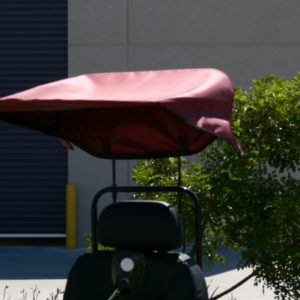 DELUXE SUN CANOPY IN RED OR BLACK