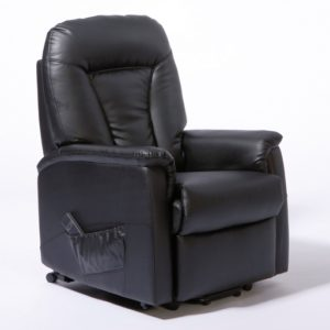 MONTREAL WALL HUGGER LIFT CHAIR – BLACK PU LEATHER