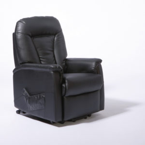 ONTARIO DUAL MOTOR LIFT CHAIR –  BLACK PU LEATHER
