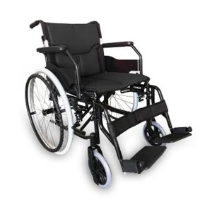 RG310A18BK LIGHTWEIGHT ALUMINIUM WHEELCHAIR- BLACK 19 INCH