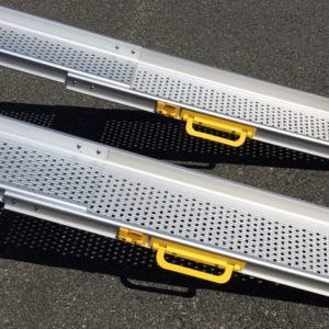 RAM 80T TELESCOPIC ALUMINIUM RAMP PAIR  HD  3 SECTION  240CM