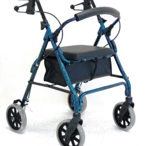 WALKER HAND BRAKE 8″ 56CM SEAT BLUE