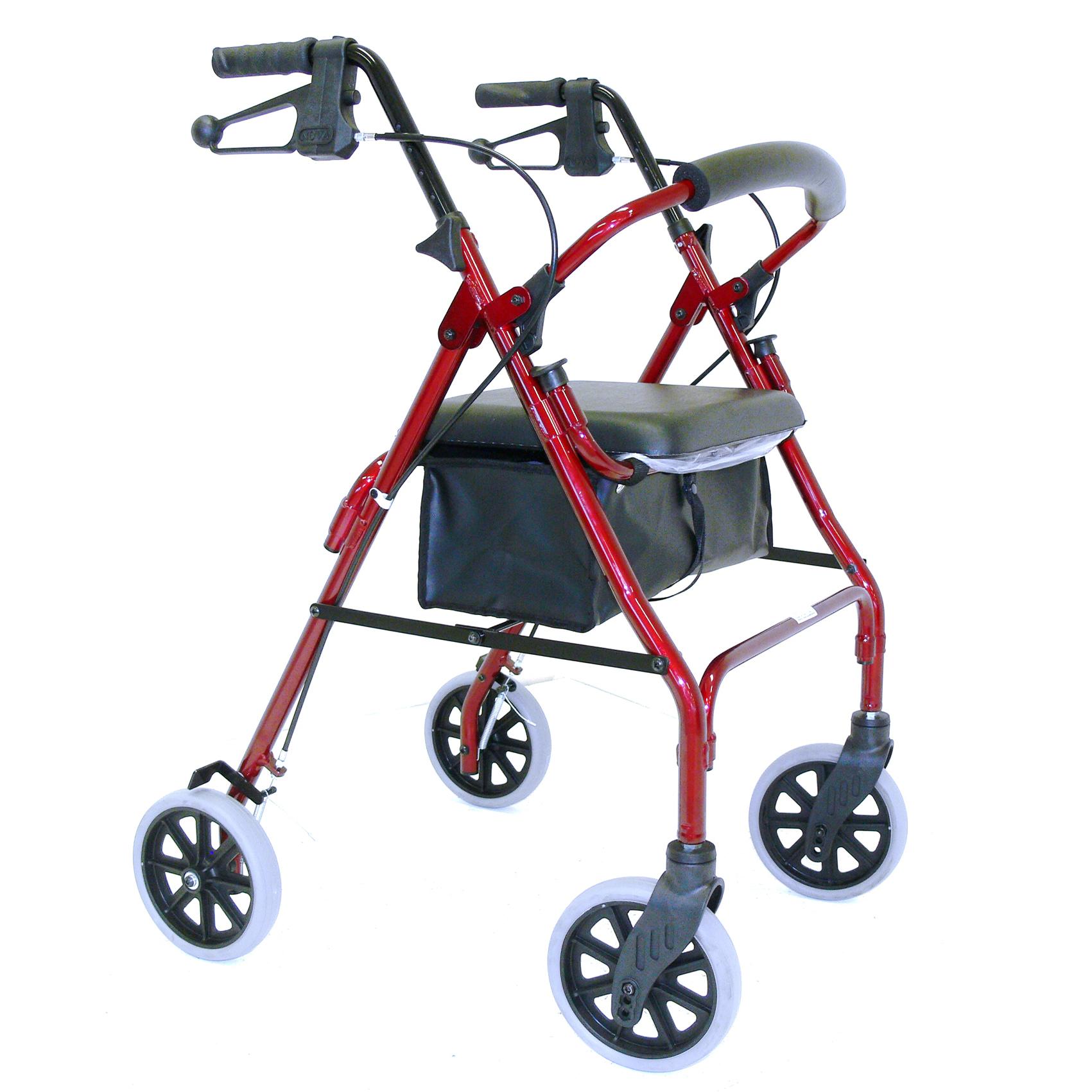 WALKER HAND BRAKE 8″ 61CM SEAT RED