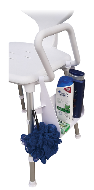 SHOWER CADDY to suit Space Saver Shower Chair/ Toilet Seat Riser