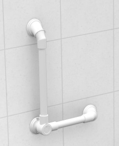 Multi Angle Adjustable Fixed Grab Rail White- RG5905
