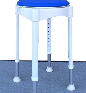 ROUND BATH STOOL WITH ROTATING SEAT