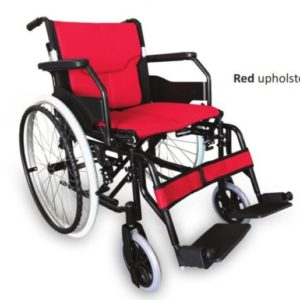 RG310A18R LIGHTWEIGHT ALUMINIUM WHEELCHAIR – RED18 INCH