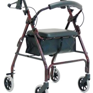 RG 4210ADJ ADJUSTABLE SEAT HEIGHT HAND BRAKE WALKER 8″ WHEELS