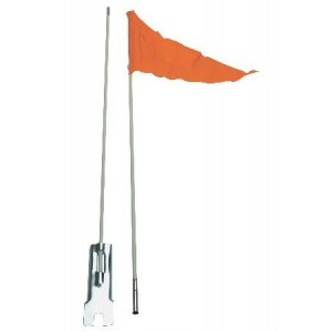 FLOURO ORANGE SAFETY FLAG FOR SCOOTER